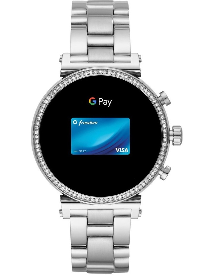 Sofie Silver Display Smartwatch Watch MKT5061 image 5