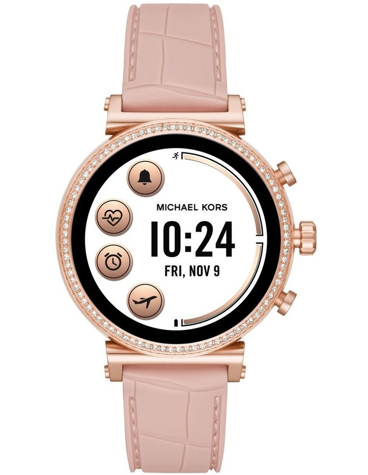 Sofie Pink Display Smartwatch Watch MKT5068 image 4