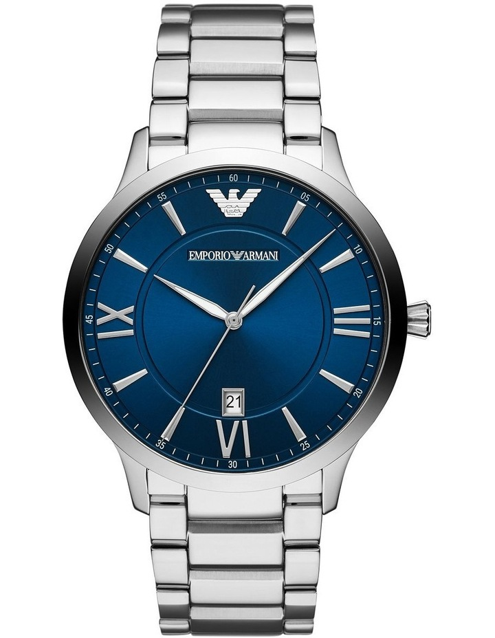 Silver Analogue Watch AR11227 image 1
