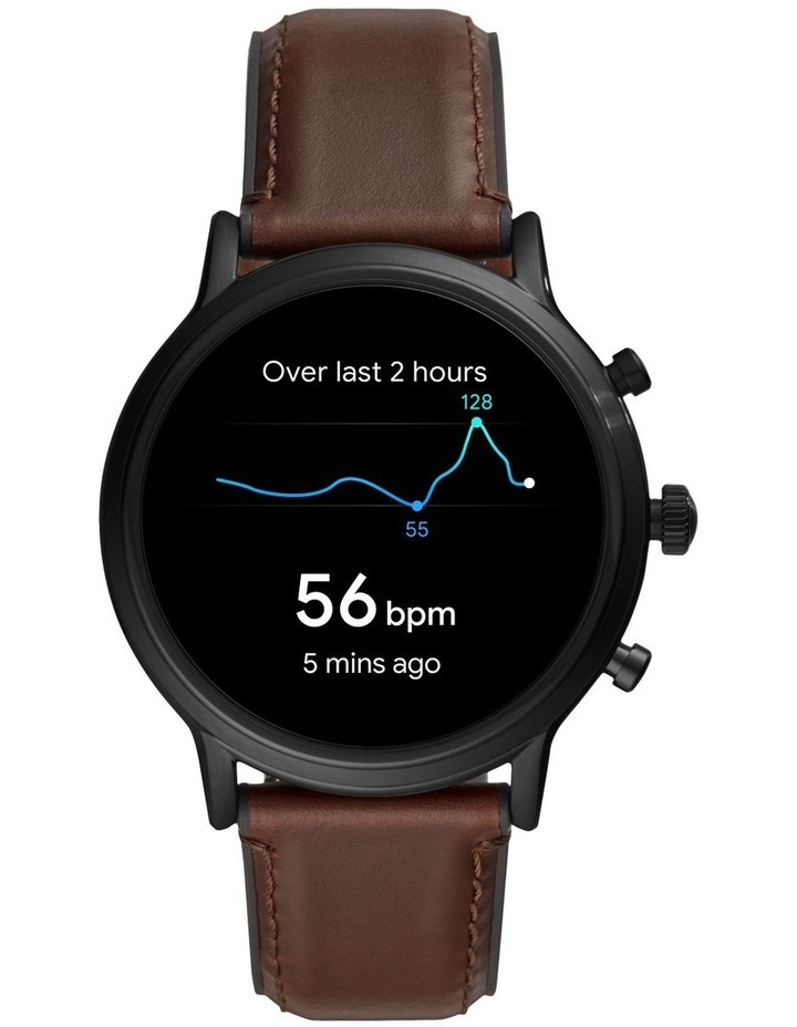 Gen 5 The Carlyle Hr Dark Brown Display Smartwatch FTW4026 image 4