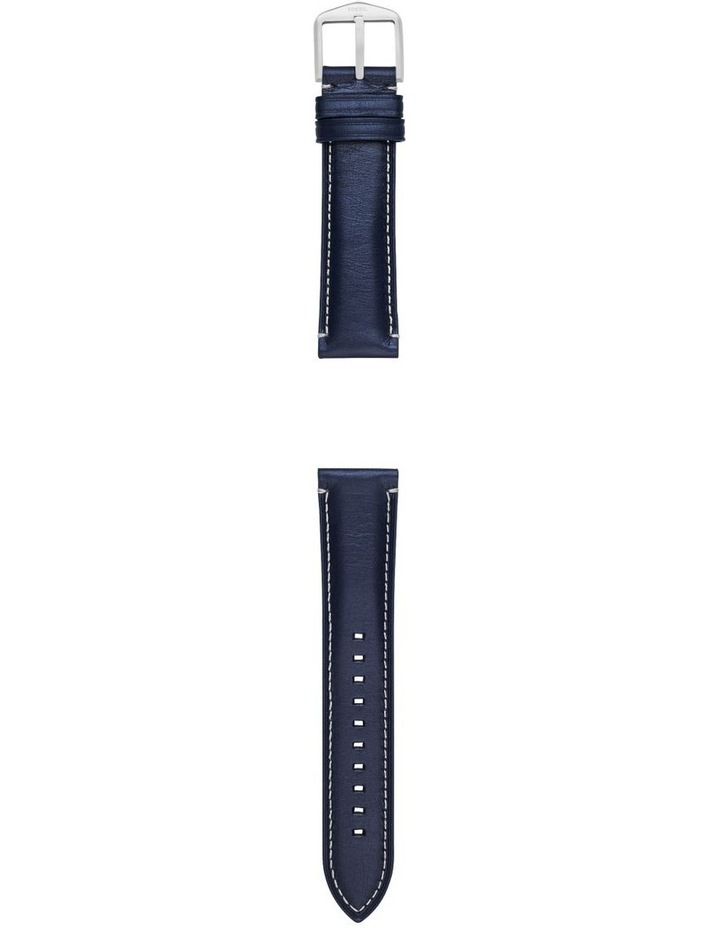 22mm Blue Leather Watch Strap image 2