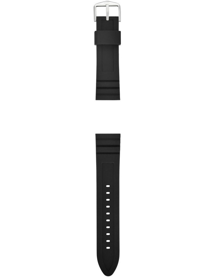 22mm Black Silicone Watch Strap image 2