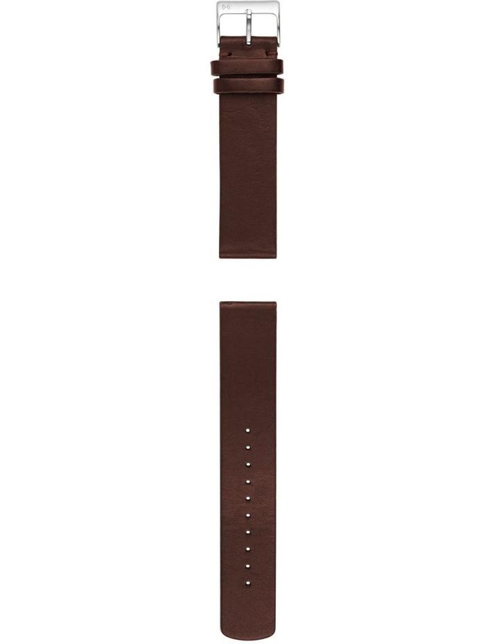 20mm Dark Brown Watch Strap image 2