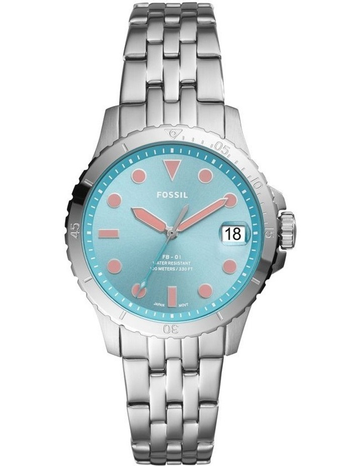 FB-01 Silver-Tone Analogue Watch image 1
