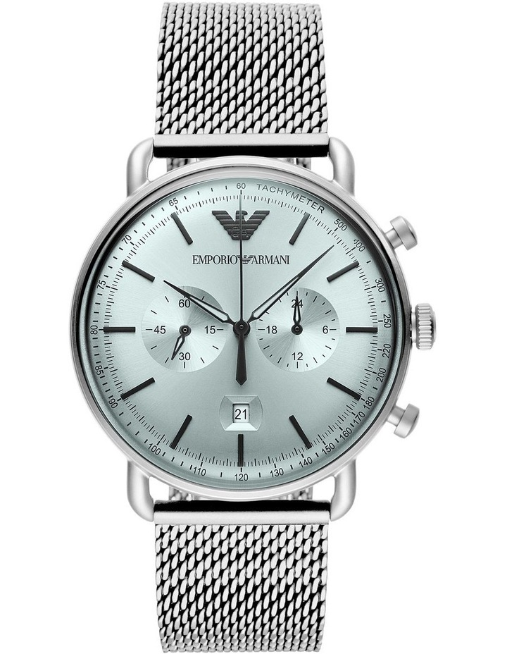 Silver-Tone Chronograph Watch image 1