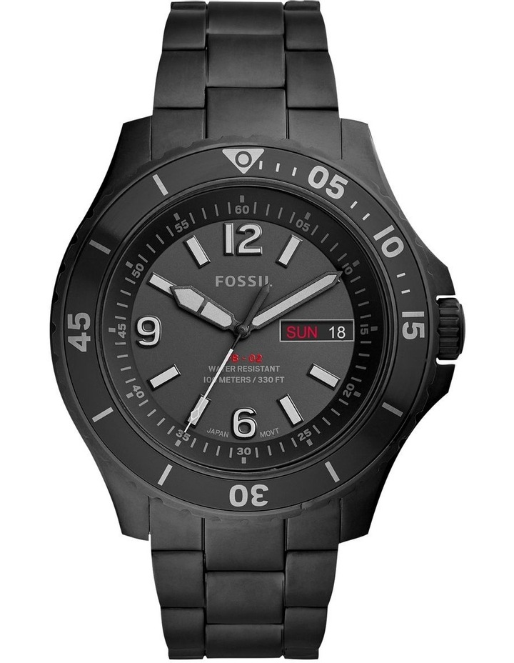 FB-02 Black Analogue Watch image 1