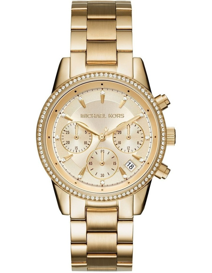 Ritz Gold-Tone Chronograph Watch image 1