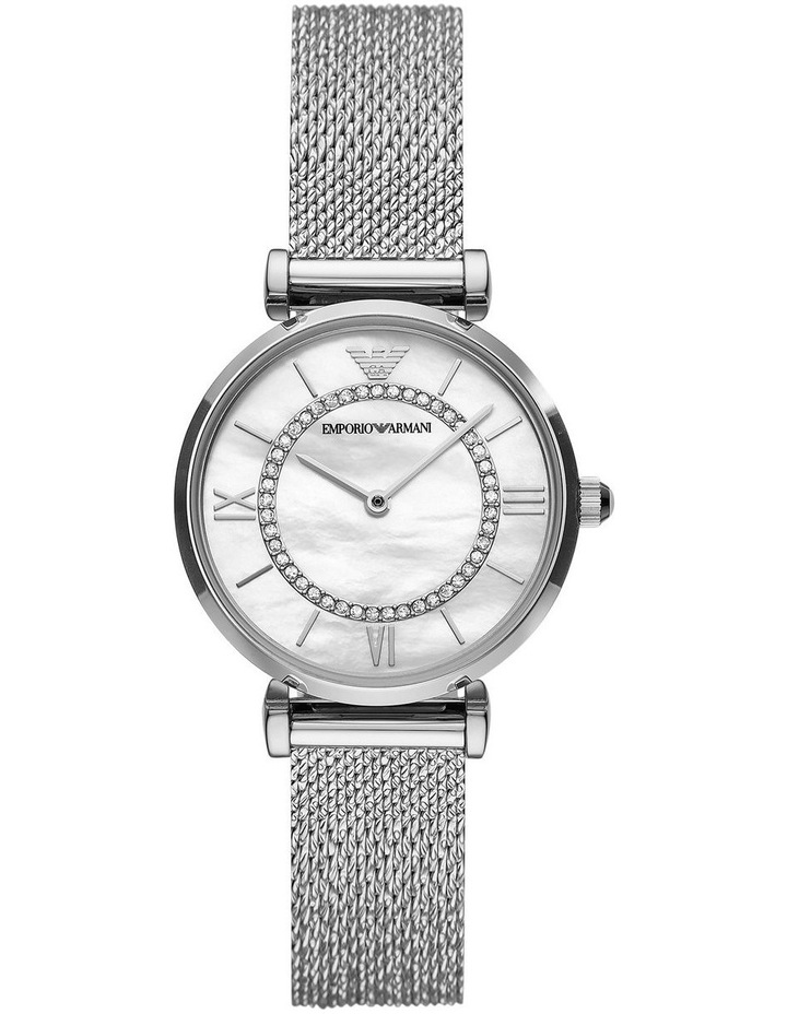 Gianni T-Bar Mother of Pearl Dial Silver Stainless Steel Analog Watch image 1