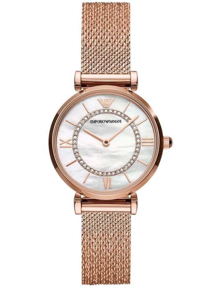 Gianni T-Bar with Mother of Pearl Dial Rose Gold Stainless Steel Analog Watch image 1