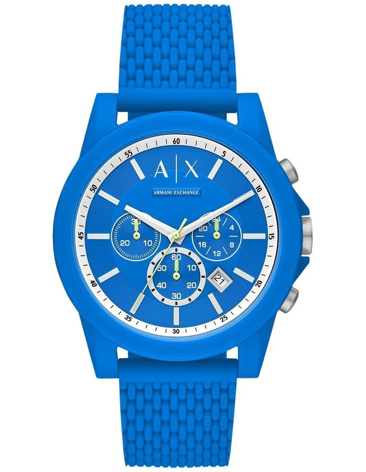 Blue Chronograph Watch image 1