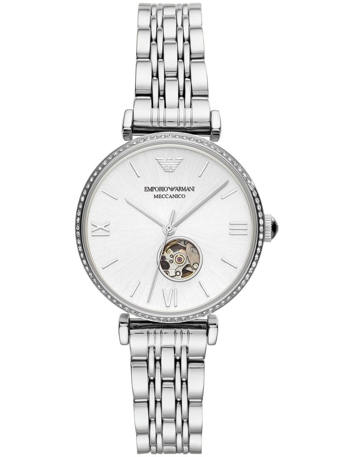 Silver-Tone Analogue Stainless Steel Automatic Watch image 1