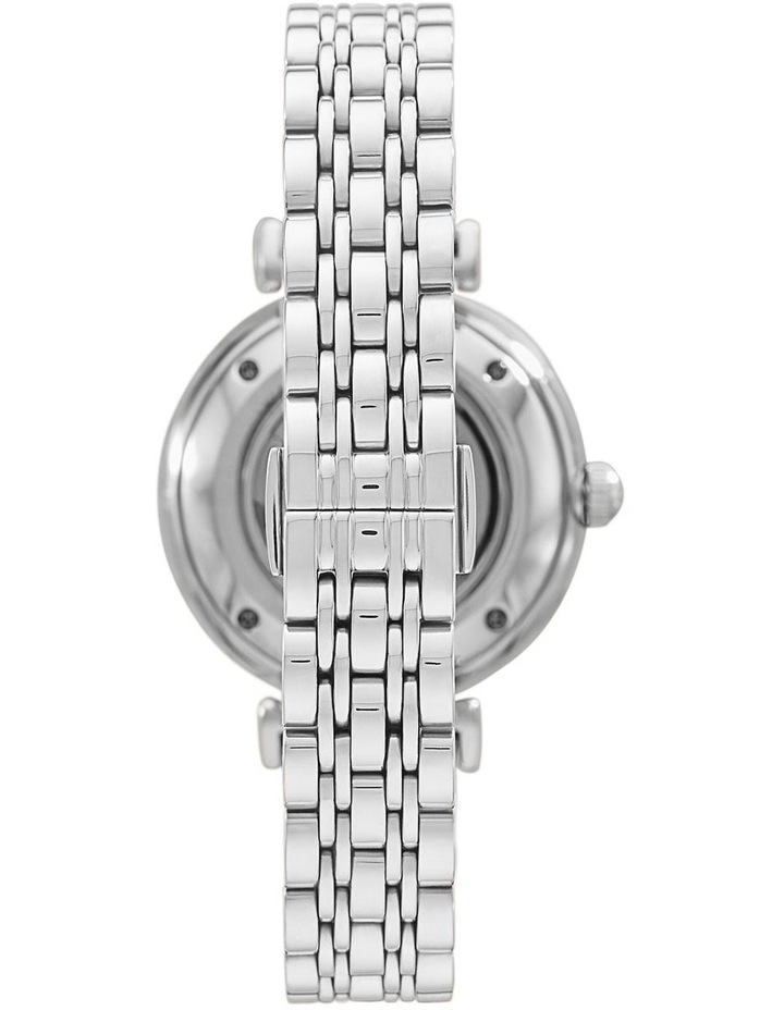Silver-Tone Analogue Stainless Steel Automatic Watch image 2
