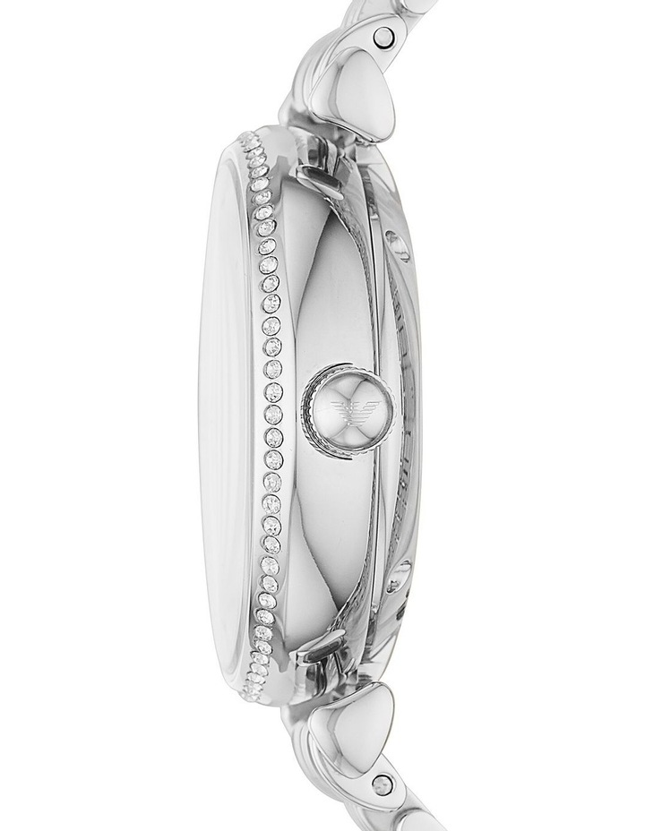 Silver-Tone Analogue Stainless Steel Automatic Watch image 3