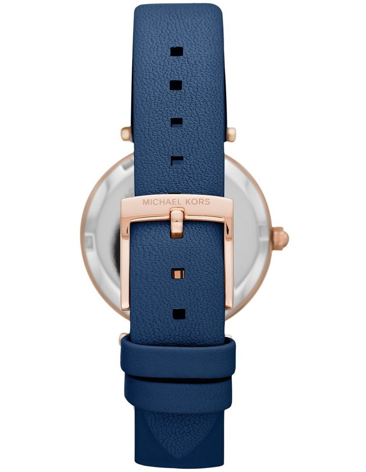 Parker Blue Leather Analog Watch image 2