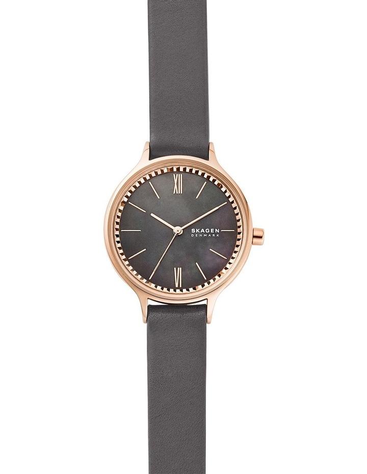 Anita Grey Leather Analog Watch image 1
