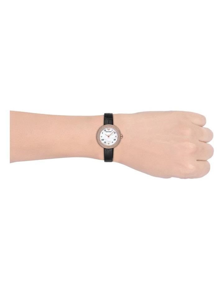 Emporio Armani Black Leather Analog Watch AR11356 image 2
