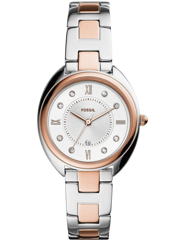 Fossil Gabby Silver/Rose Gold Stainless Steel Analog Watch ES5072 image 1