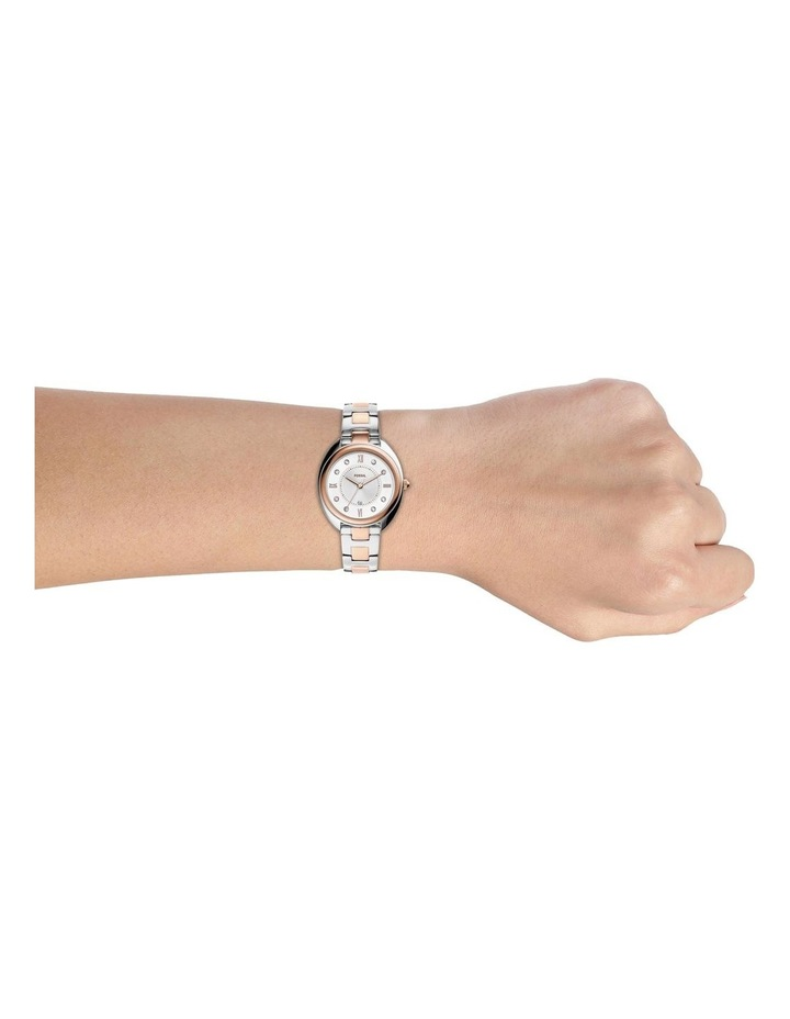 Fossil Gabby Silver/Rose Gold Stainless Steel Analog Watch ES5072 image 2