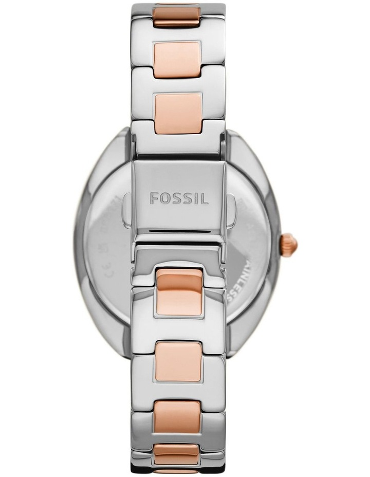 Fossil Gabby Silver/Rose Gold Stainless Steel Analog Watch ES5072 image 3