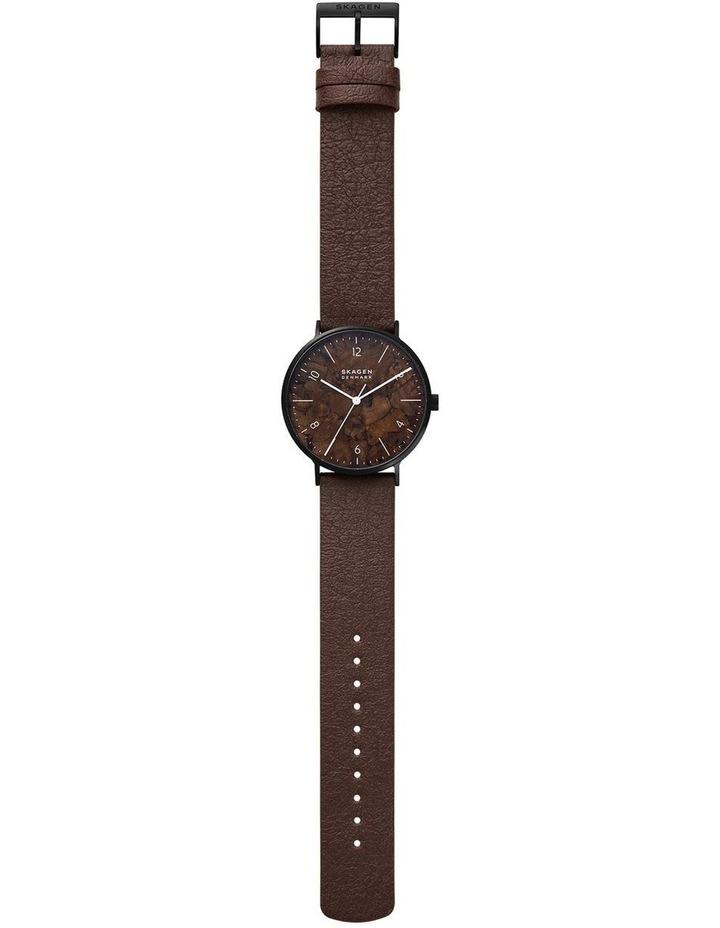 Aaren Naturals Three-Hand Brown Mulberry Leather Alternative Watch image 1