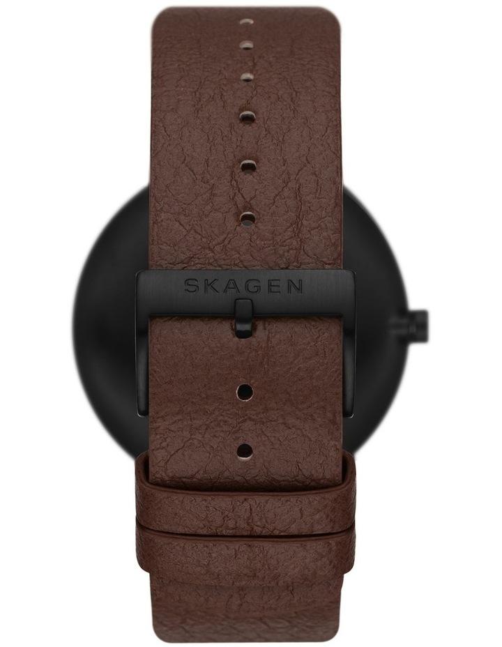 Aaren Naturals Three-Hand Brown Mulberry Leather Alternative Watch image 2