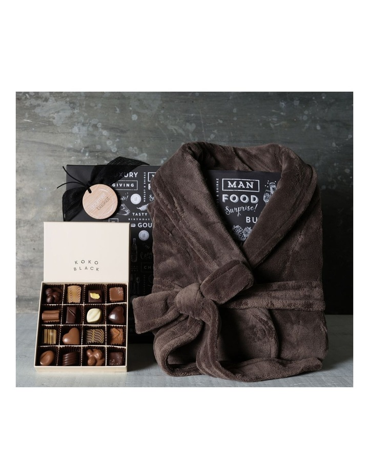 Fathers Day Robe and Premium Chocolates for Him image 1