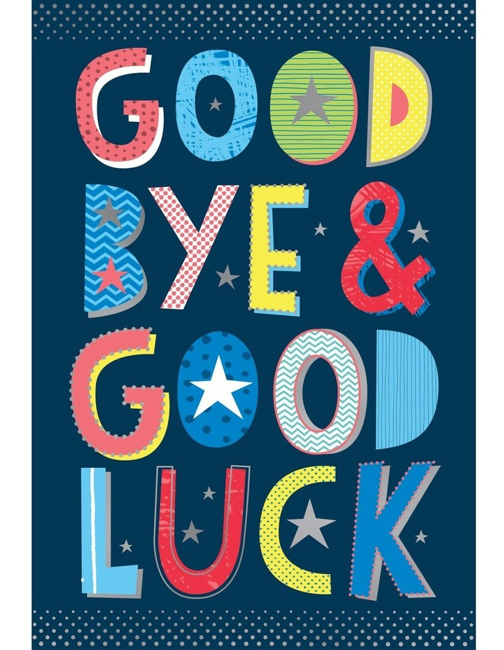 Good Bye & Good Luck Large Card image 1