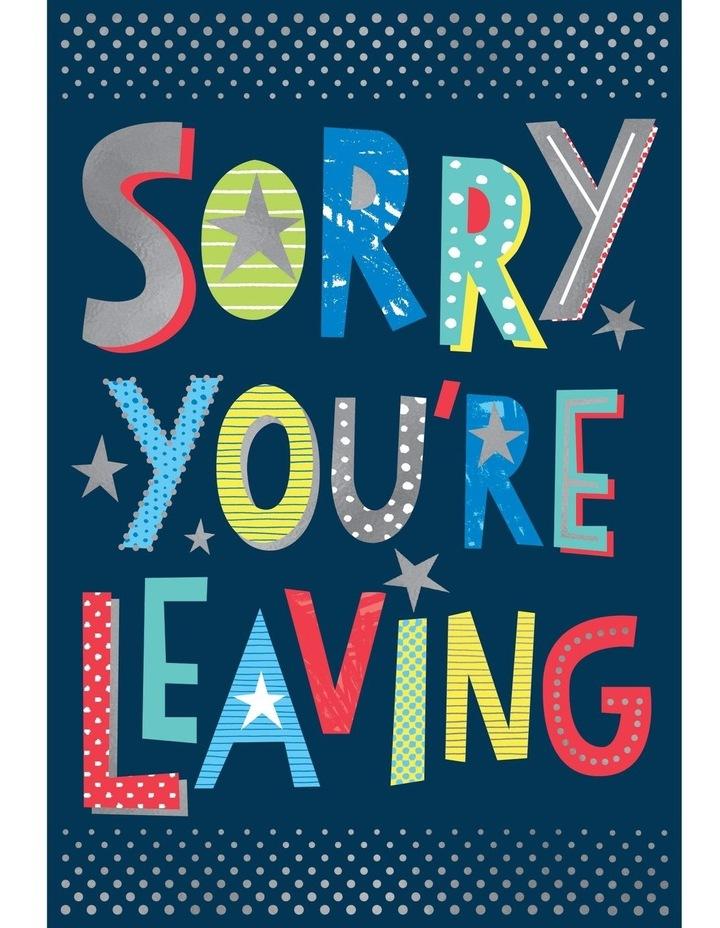 Large Card Leaving Job, Whoo Hoo image 1