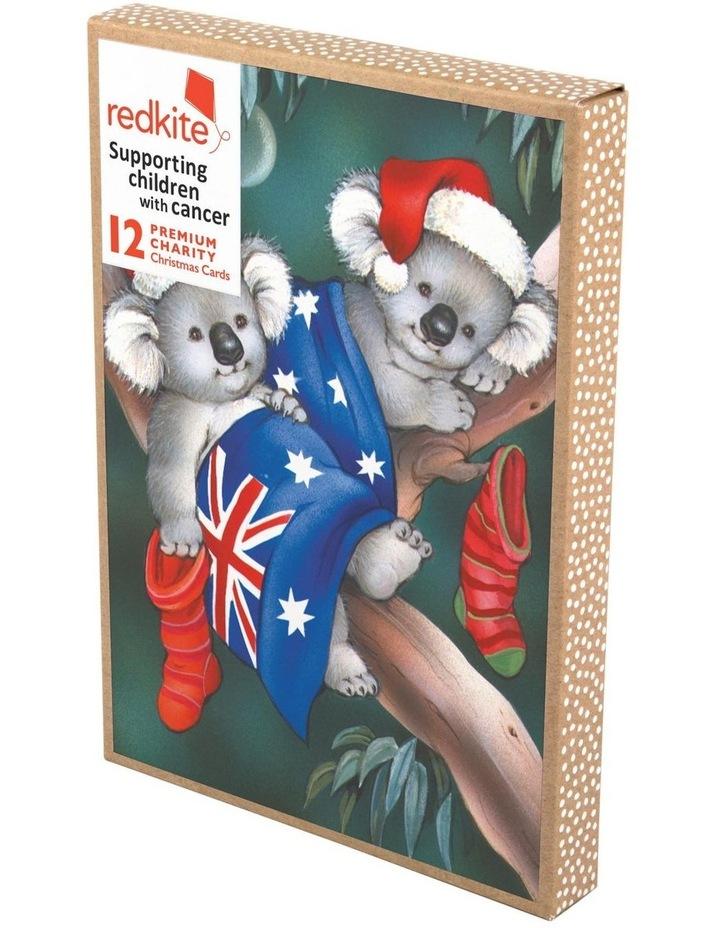 Boxed Redkite Australiana Boxed Cards, Koala's Australian Flag - 10 Pack image 1