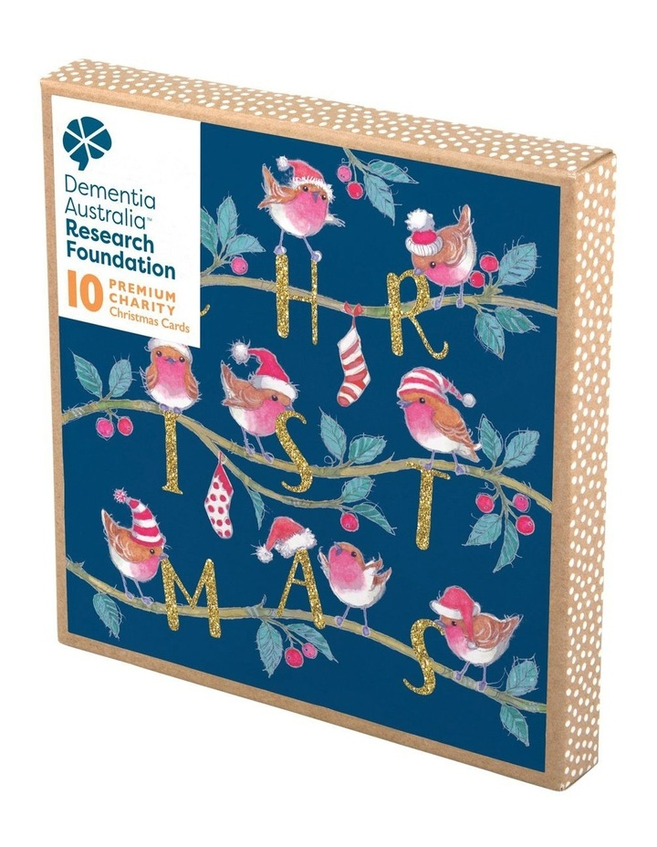 Christmas, Charity, Dementia Australia Research Foundation, Christmas robins, Boxed cards image 1