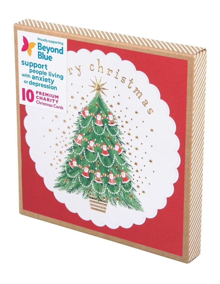 Beyond Blue Charity Christmas Boxed Cards, Merry Santa's - 10 Pack image 1