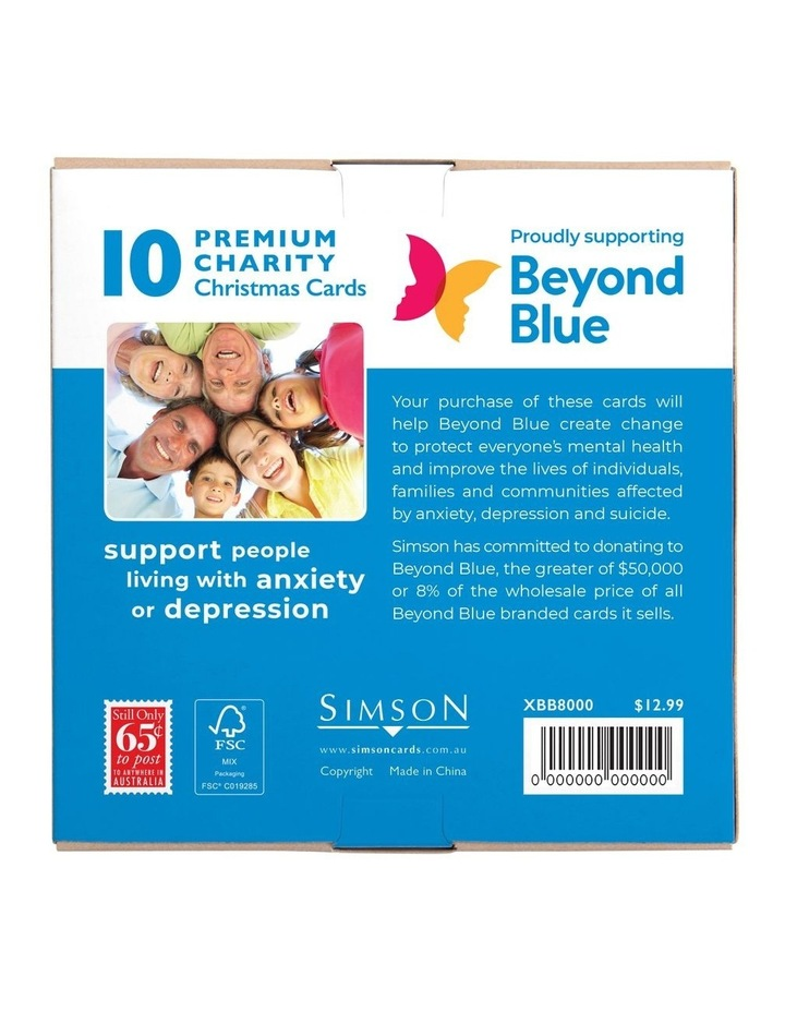 Beyond Blue Charity Christmas Boxed Cards, Merry Santa's - 10 Pack image 5