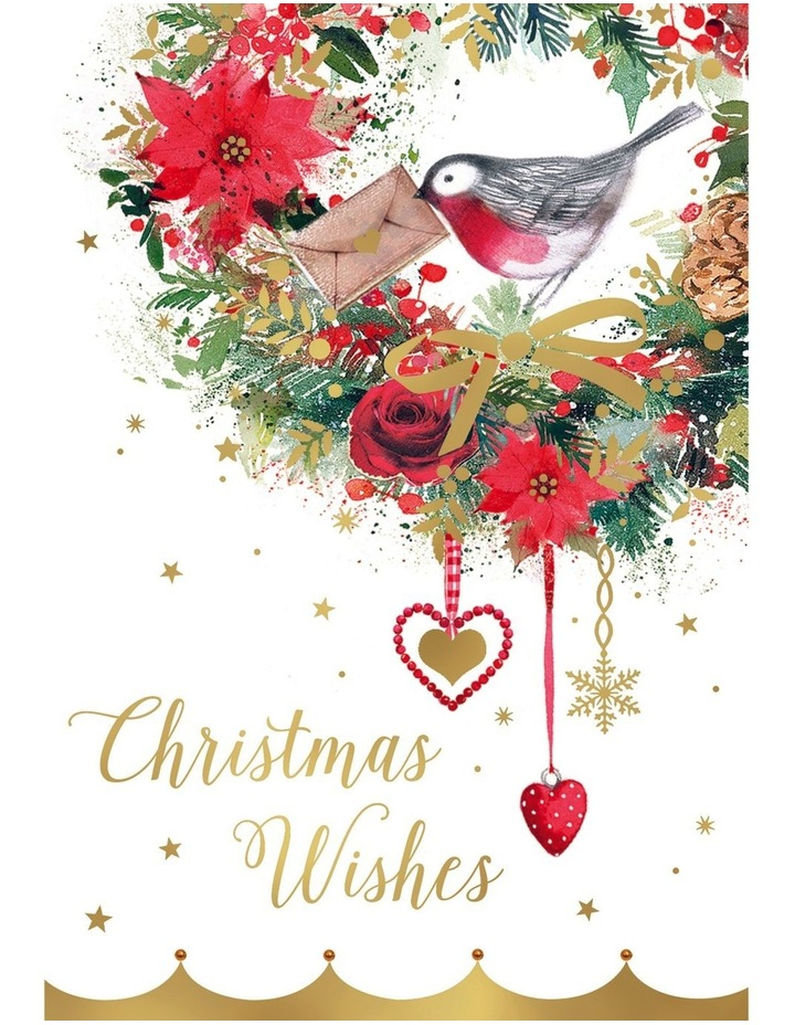 The Smith Family Charity Christmas Boxed Cards, Robin Wreath - 10 Pack image 1