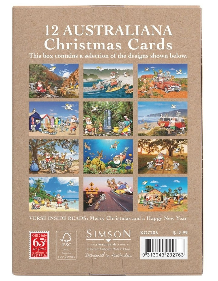 Galbraith Australiana Scenic Boxed Christmas Cards, Multiple Designs - 12 Pack image 5
