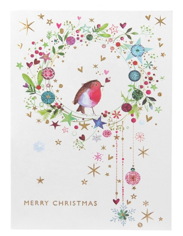 Christmas, Charity, Ovarian Cancer, Robin in wreath, Boxed cards image 2