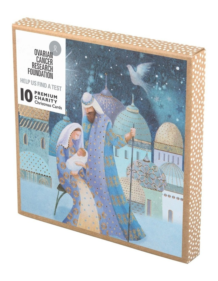 Ovarian Cancer Research Foundation Charity Christmas Boxed Cards, Mary & Joseph - 10 Pack image 1