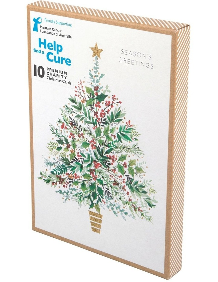 Christmas, Charity, Prostate Cancer Foundation of Australia, Holly Christmas tree, Boxed cards image 1