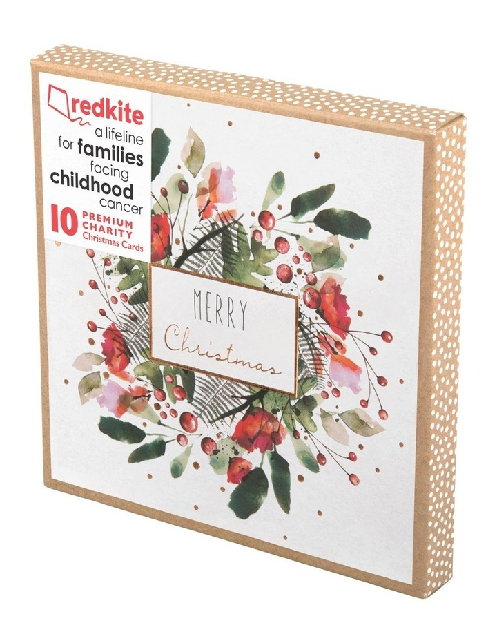 Christmas, Charity, Red Kite, Peony Rose Wreath Boxed cards image 1