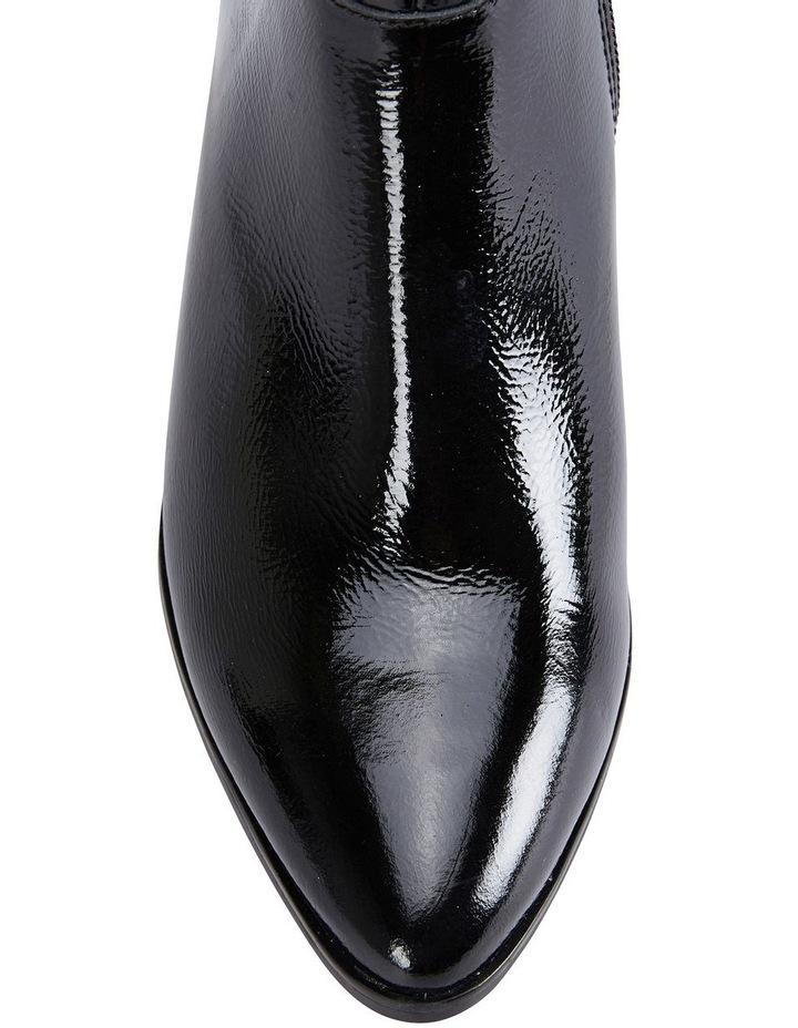 Mirage Black Crinkle Patent Boot image 7