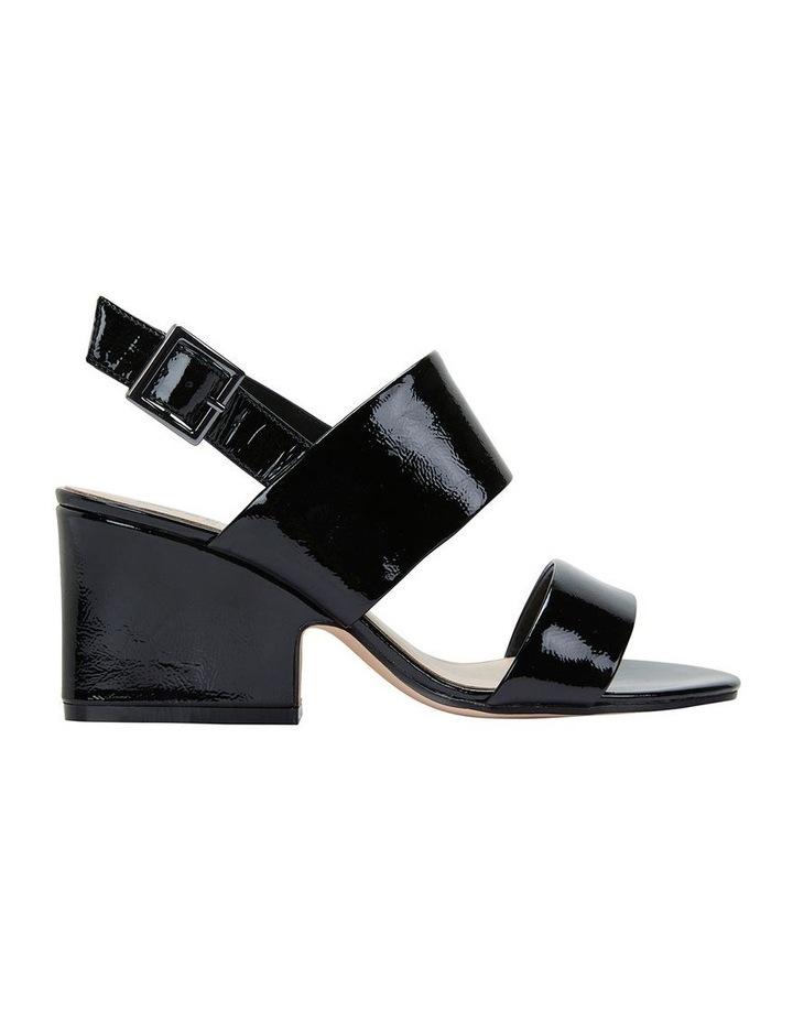 Jane Debster MONTEGO Black Crinkle Patent Sandal image 1