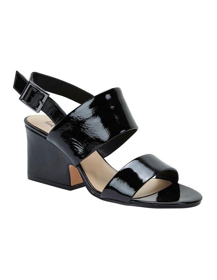 Jane Debster MONTEGO Black Crinkle Patent Sandal image 2