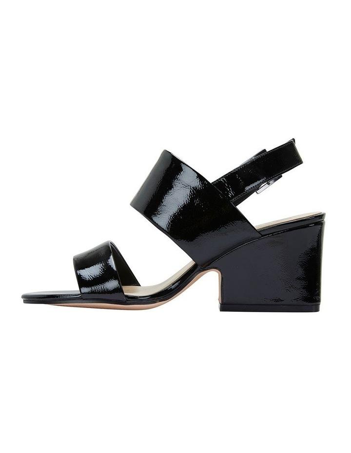 Jane Debster MONTEGO Black Crinkle Patent Sandal image 3