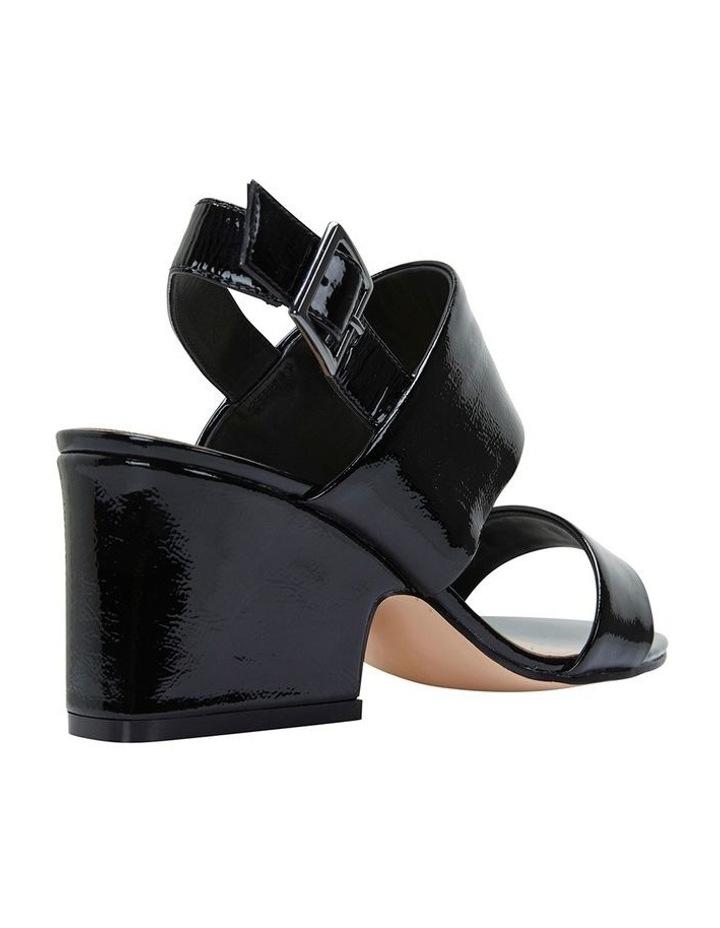 Jane Debster MONTEGO Black Crinkle Patent Sandal image 4