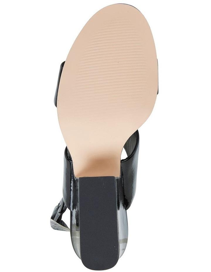 Jane Debster MONTEGO Black Crinkle Patent Sandal image 6