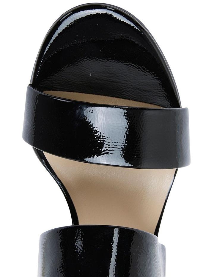 Jane Debster MONTEGO Black Crinkle Patent Sandal image 7