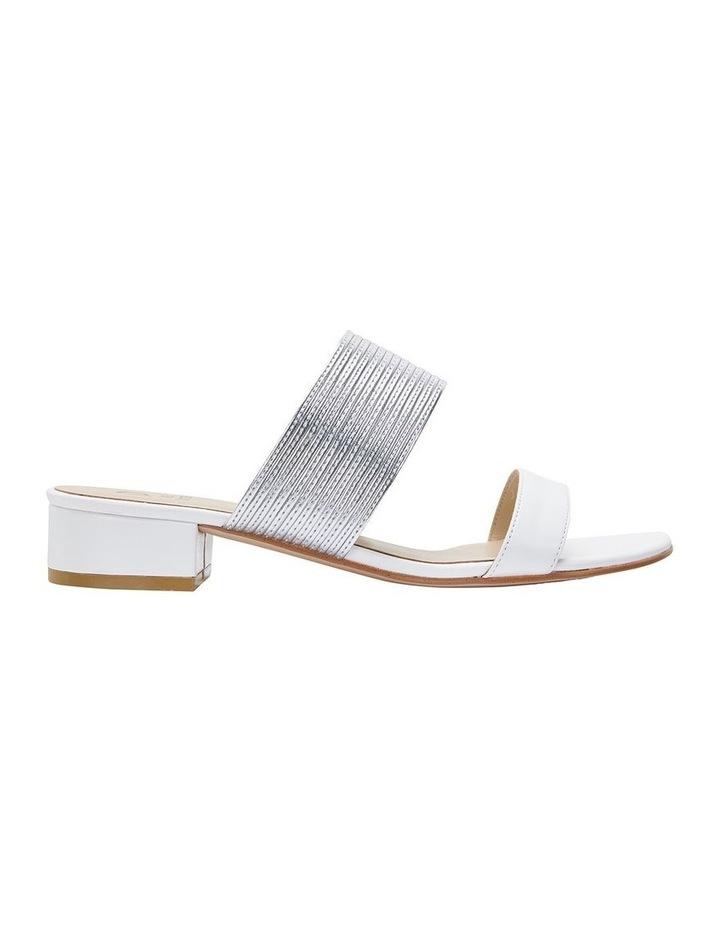 Jane Debster ENVY White/Silver Metallic Sandal image 1