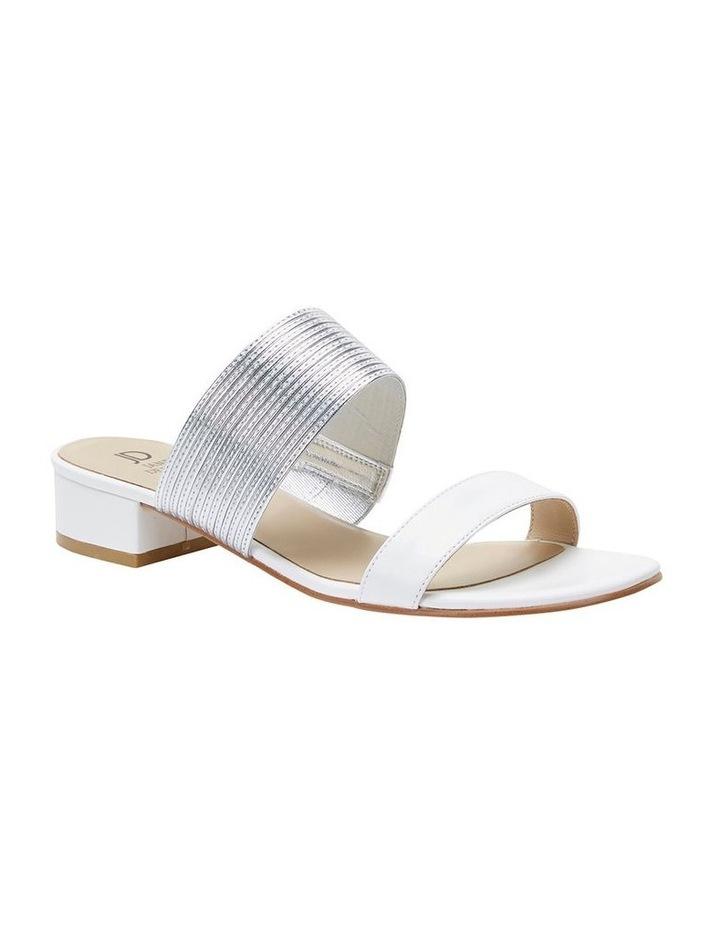 Jane Debster ENVY White/Silver Metallic Sandal image 2