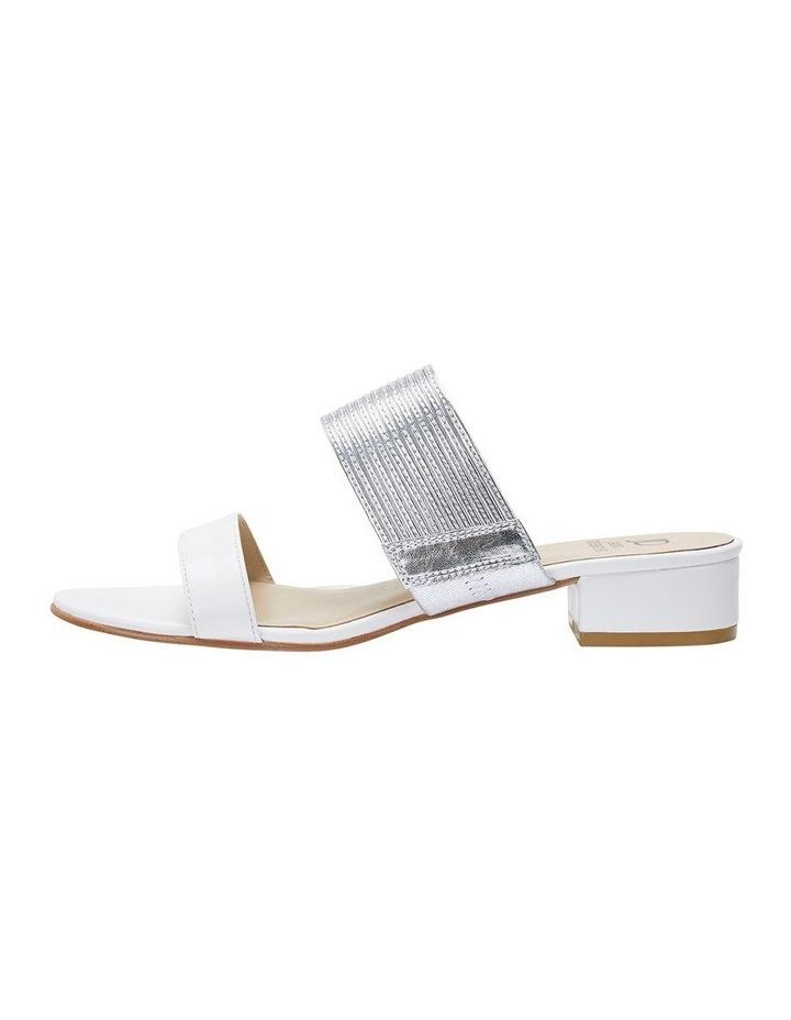 Jane Debster ENVY White/Silver Metallic Sandal image 3
