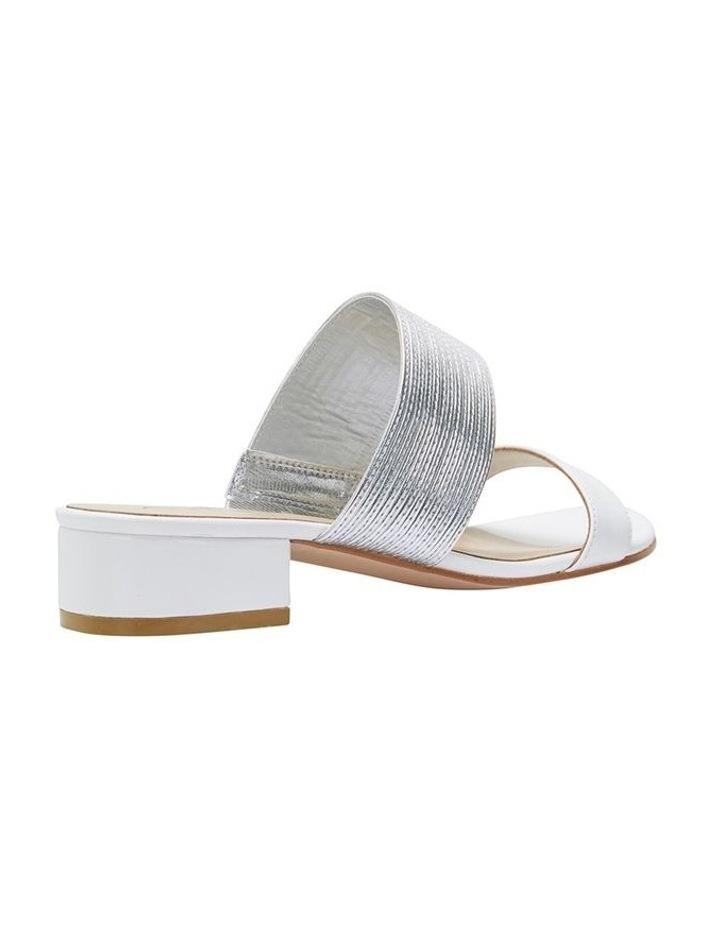 Jane Debster ENVY White/Silver Metallic Sandal image 4