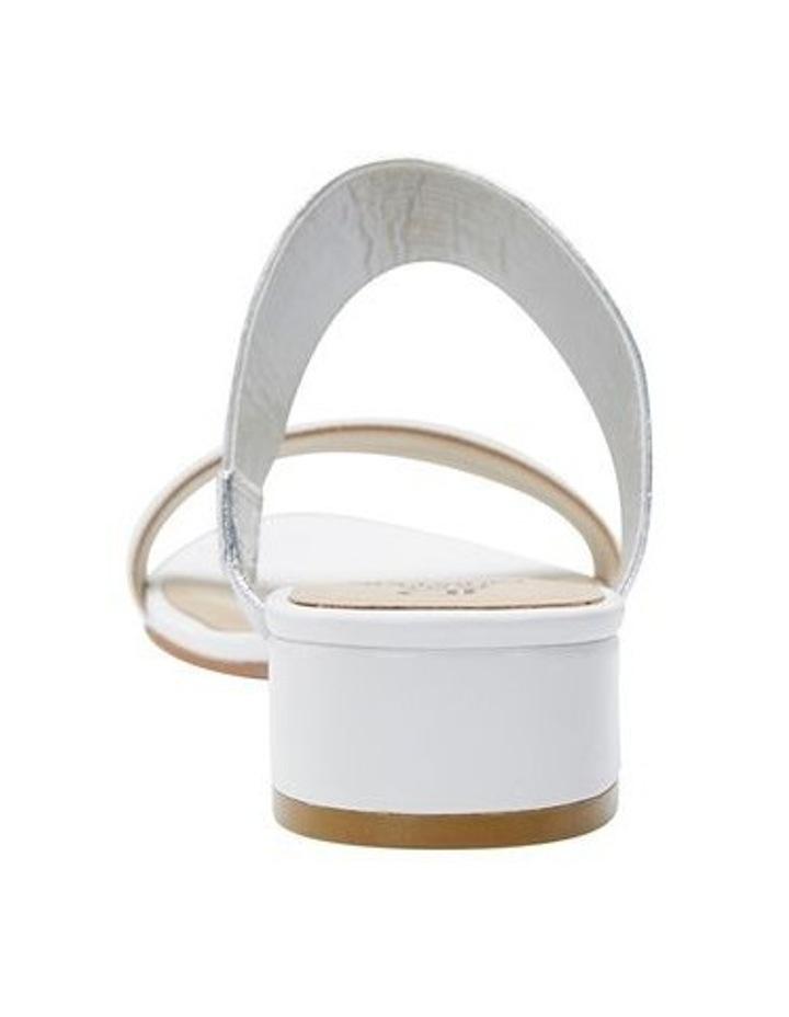 Jane Debster ENVY White/Silver Metallic Sandal image 5